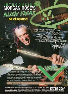 2003 Print Ad of Vater Alien Freak Drumsticks w Morgan Rose of Sevendust