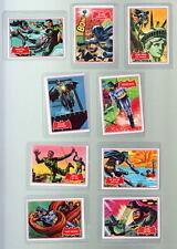 1966 Topps BATMAN A Red Bat PUZZLE BACK CARDS #7A 9A 10A 11A 12A 21A 24A 25A 35A