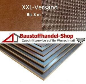 12mm Siebdruckplatte Anhängerplatte 45€m² wasserfest Siebdrucksperrholz SiebFilm