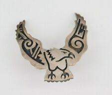 Vintage Southwestern Sterling Silver Eagle Pin Signed Hopi