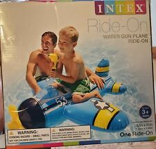 Intex Water Gun Plane ~ Ride On Kids Swimming Pool Float Raft W/ Squirt Gun