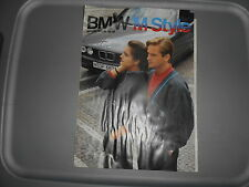 NOS BMW OEM 1988-1989 Autum Winter Apparel Dealer Catalog M Style