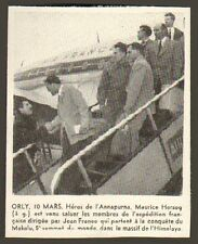 ORLY MAURICE HERZOG ANNAPURNA JEAN FRANCO PETITE IMAGE SMALL CUT PRINT 1955