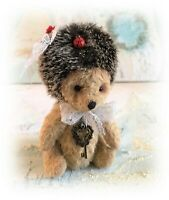 "5"" Faux Fur Hedgehog OOAK Little jointed Artist Bear one off Design"
