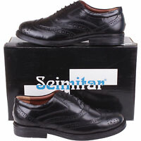 Mens Black Leather Brogues Size 6, 7, 8, 9, 10, 11, 12
