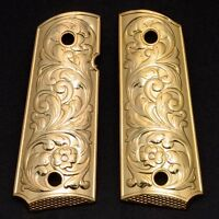 1911 Grips PISTOL GRIPS Colt Full Size Government Gold Plated 1911 Commander
