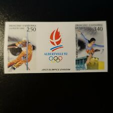 ANDORRE TIMBRE NON DENTELÉ IMPERF N°414A JEUX OLYMPIQUES 1992 NEUF ** MNH