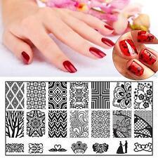 NEW Fashion Manicure Templat DIY Nail Art Pattern Image Printing Polish Stamp TU