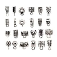 20pcs Antique Silver Clip Bail Beads Pendant Clasp Jewelry Necklace Connector