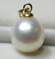 Baroque 11x12MM NATURAL SOUTH SEA PEARL PENDANT 14K gold #47