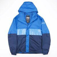 Vintage HELLY HANSEN Blue Colour Block Hooded Jacket Size Men's Large