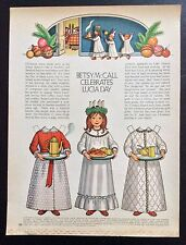 Betsy McCall Mag. Paper Doll, Betsy McCall and Lucia Day, Dec. 1972