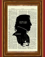 Snape Harry Potter Dictionary Art Print Sly 00005E4B therin Poster Always Quote