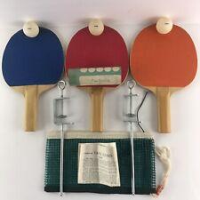 Vintage Regent Table Tennis/Ping Pong Set Japan Paddles/Racquets-Net-Balls-Case