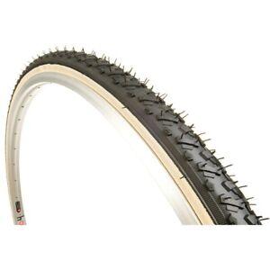 "Kenda K161 Kross Cyclo Tire 27x1-3/8"" Black/Tan Steel Bead Road Hybrid 27"" Bike"