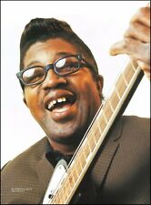 Bo Diddley circa 1957 in NYC with Gretsch Guitar 8 x 11 color pin up photo