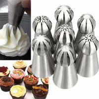 7Pcs Sphere Ball Russian Icing Piping Nozzles Tips Cake Decorating Baking Tools
