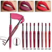 12 Color Dual Pencil Lipstick Pen Matte Lip Liner Long Waterproof Lasting Makeup