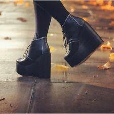 Deandri Olga Wooden Platform Shoes Size 6 Vegan Goth Dollskill Killstar Grunge