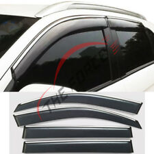 Window Sunny Visor For Mitsubishi ASX W/Chrome Silver Strip 13-14-15-16-18 Trim