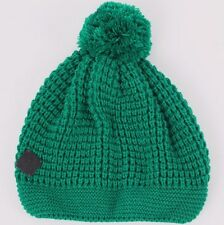 Diesel Mora-bean 0iadi Knitted Bobble Beanie Cap With Leather Detail One Size
