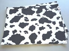 Everyday Black White Cow Print Set of 4 Placemats