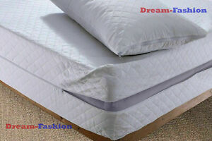 100% Anti BUG dust mite Zipped Mattress Cover ALL SIZE Bed Mattress Protector