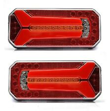 2x LED Rear Tail 24V Position Lights Truck Trailer Chassis Scania MAN Volvo MAN
