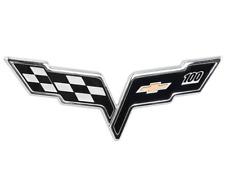 2005-2013 Corvette C6 OEM Black GM Centennial 100th Anniversary Emblem - Front