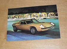 Lotus Europa Twin Cam Brochure Flyer 1971
