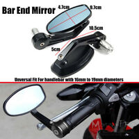 "7/8"" BLACK HANDLE BAR END MIRRORS 4 DUCATI MONSTER 620 696 796 821 1100 1200 S"