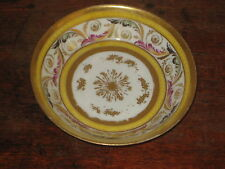 PROBABLY EARLY 19TH CENTURY PARIS SAUCER BOWL GREAT ORNATE DECORATION