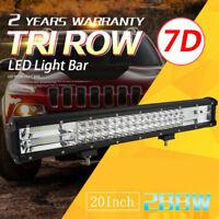 "20"" Inch 288W LED Work Light Bar Flood Spot Combo Offroad Driving Lamp Car Truck"