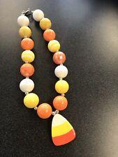 NEW Bubblegum Girls Necklace Candy Corn Fall Halloween