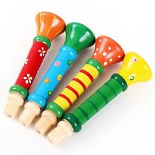 Multi-Color Wooden Horn Hooter Trumpet Instruments Music Toys for Baby Kids