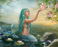 Modern art Home Decor Fantasy Mermaid Oil painting Picture Printed on canvas y19