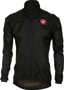 Castelli Squadra ER Men's Cycling Jacket Black Size Large : SUPER LIGHT