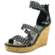 Sandalias y chanclas de mujer planos de lona, Talla 38