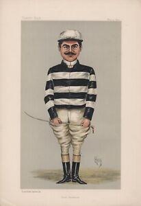"Antique Vanity Fair Jockey Litho of Count Della Catena, ""Count Strickland""1896"