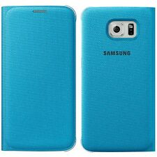 Genuine Samsung Abatible Estuche GALAXY S6 SM G920 F Teléfono Inteligente Funda Billetera Original