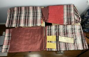 Vintage NOS 1939-1948 Chrysler Dodge DeSoto Plymouth Ford Red Plaid Seat Covers