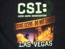 CSI : Crime Scene Investigation Las Vegas T.V Series Black T Shirt Size 2XL