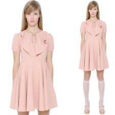 Red Valentino Pink Bow Crepe Dress RRP $999 Try Code Pull5 For 5% Off