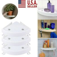 Bathroom Triangular Shower Shelf Corner Bath Storage Holder Rack LOT US