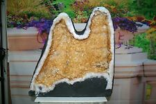 "96.25 lbs Cathedral Citrine Geode  18 1/4 "" tall  (R.1700)"