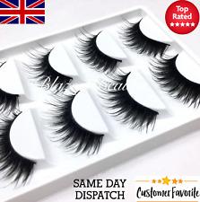 5 Pairs LONG WISPY False Eyelashes Set WSP Strip Eye Lashes Makeup Mink Dupes