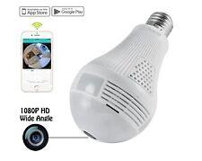 1080P HD SPY Hidden Wifi Bulb Camera Light Security *Double Source*