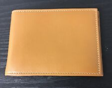 Levenger Leather Bifold Money Clip Card Holder Tan