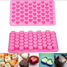 55 Hole Mini Silicone Heart Chocolate Ice Cube Candy Muffin Soap Cake Decor Mold