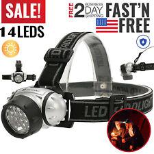 900000LM Super Bright 14 LED Headlamp Flashlight 4 Modes AAA Head Torch Headband